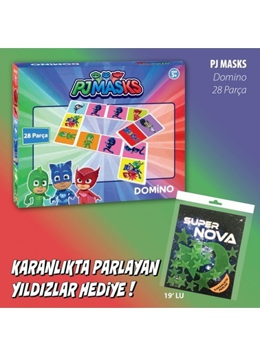 Pj Masks PJ Masks Domino Oyunu Renkli